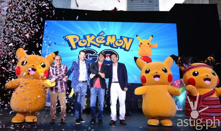 Pikachu at Pokemon Go Globe Telecom event
