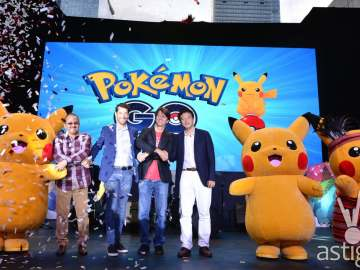 Pikachu at Pokemon Go Globe Telecom event