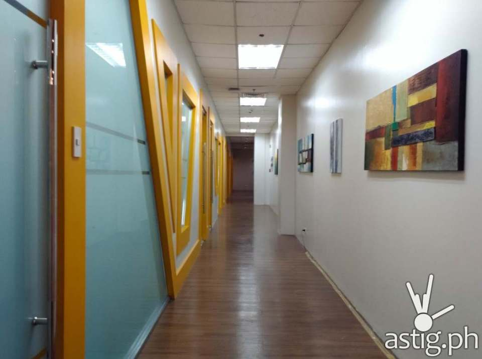 Office halls of Square One BGC co-working space
