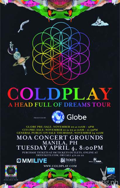 Coldplay Manila concert poster