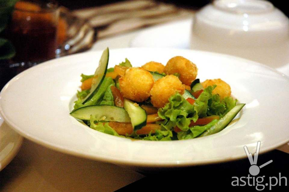 Fried Kesong Puti Ensalada - Pinac restaurant UP Town Center