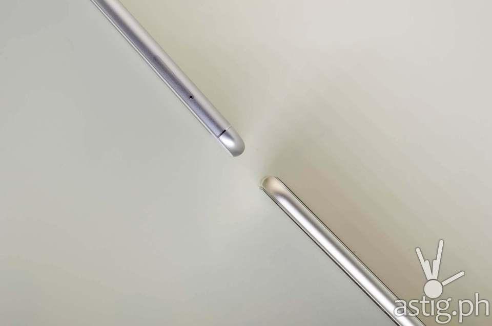 ASUS Zenfone 3 Max 5.5 (top) vs ASUS Zenfone 3 5.5 (bottom) thickness comparison
