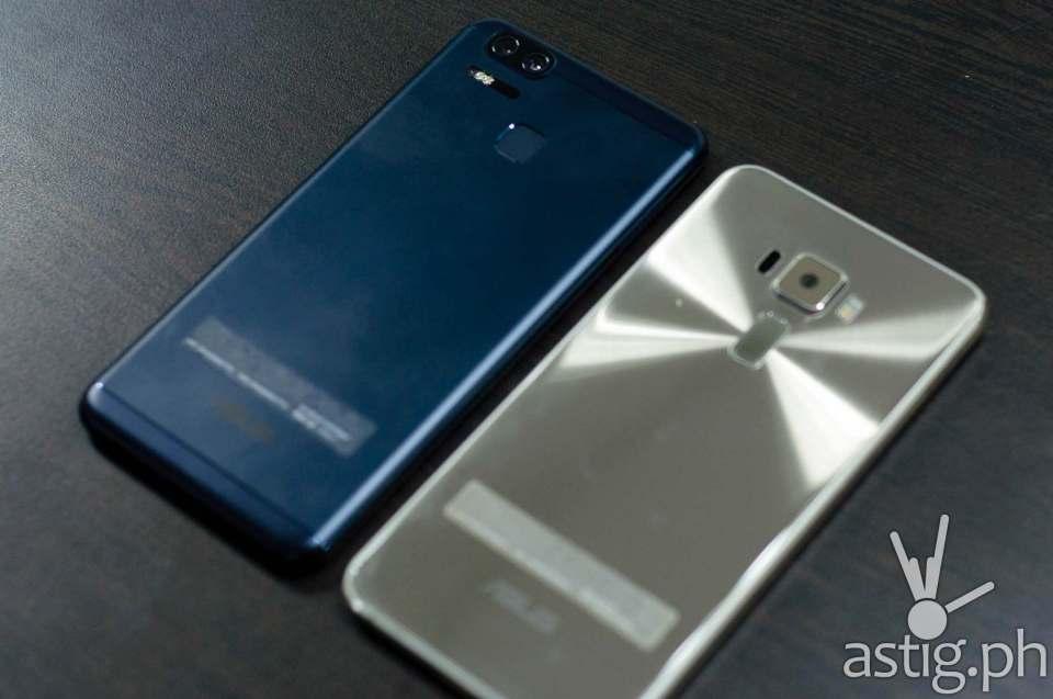 ASUS Zenfone 3 Zoom (left) vs ASUS Zenfone 3 5.5 (right) - back
