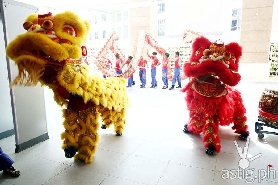 Ceremonial Lion and Dragon dance 1