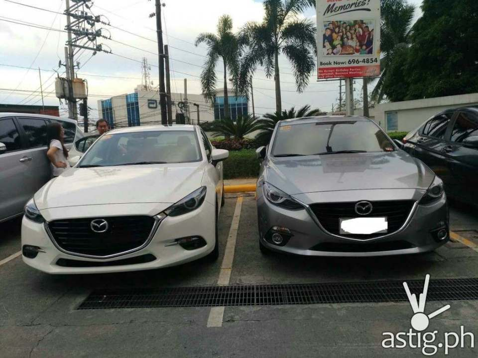 Mazda3 2017 (left) and 2016 (right)