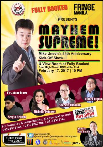 Mayhem Supreme!: Mike Unson's Anniversary Kick-Off Show