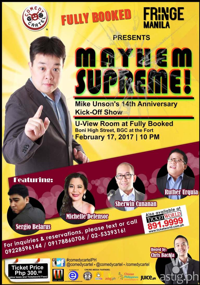Mayhem Supreme!: Mike Unson's Anniversary Kick-Off Show