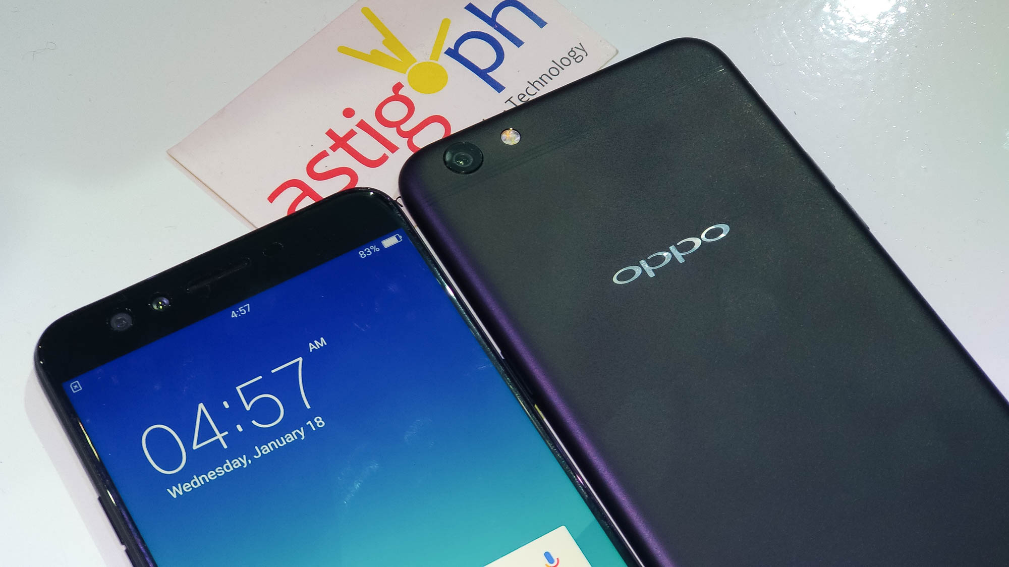 OPPO F3 Plus black front and back ASTIG.PH