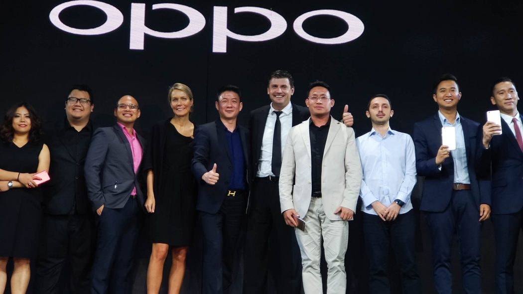 OPPO Philippines Executives with Joey Mead King and Lazada CEO Inanc Balci - OPPO F3 Plus Philippines
