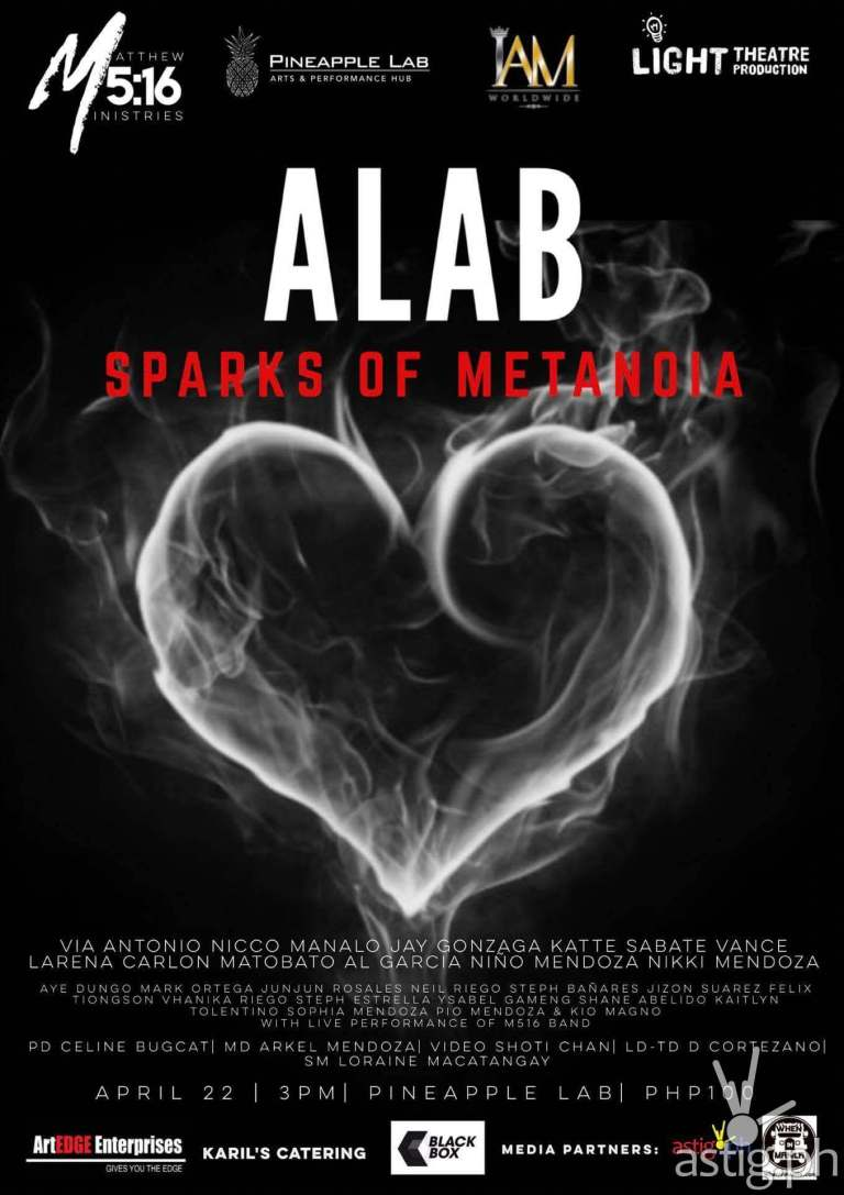 ALAB Sparks of Metanoia event poster