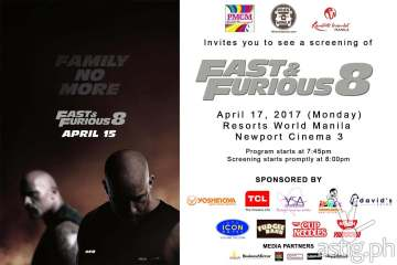 Fast and Furious 8 movie poster PMCM Events