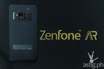 ASUS Zenfone AR back with media box