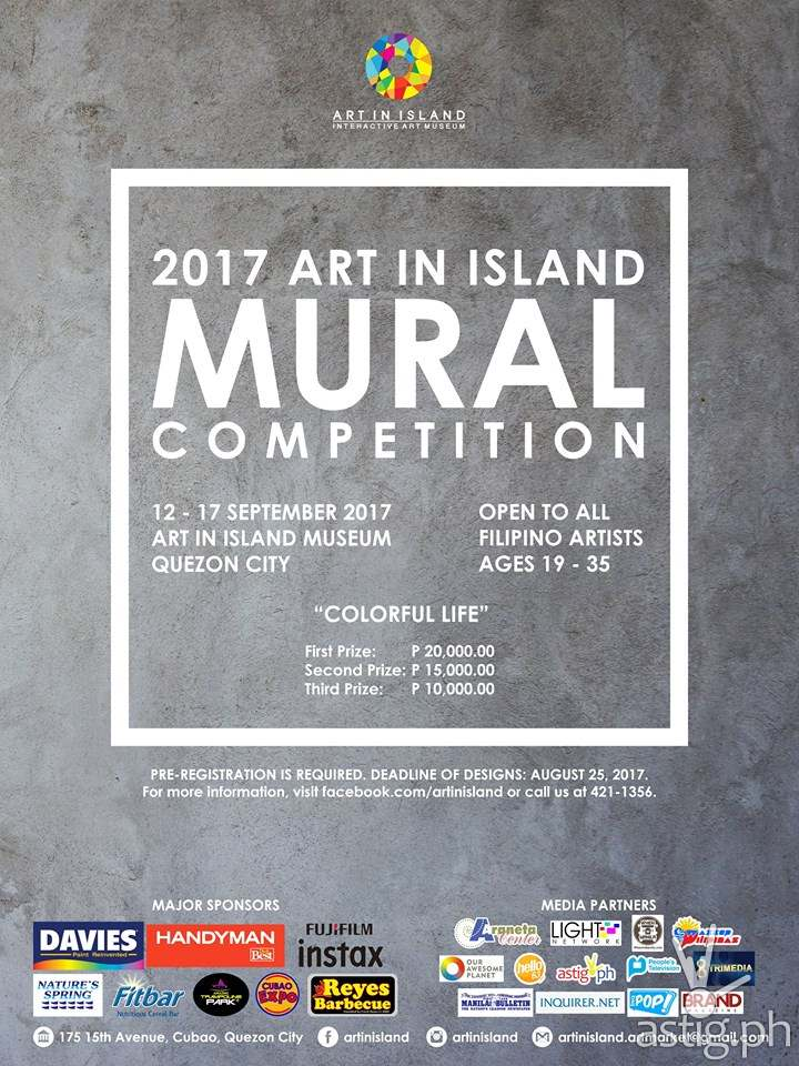 Art In Island mural competition event poster