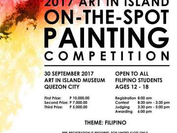 Art in Island on-the-spot painting competition event poster