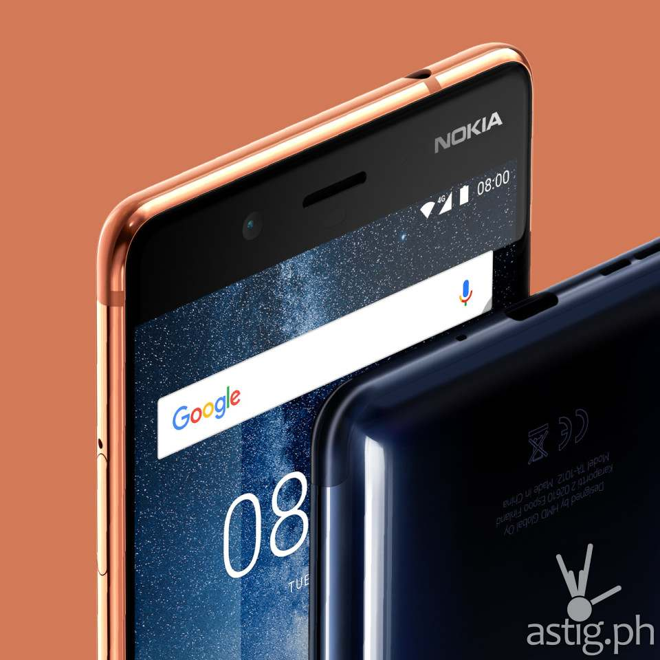 Nokia 8 close up left