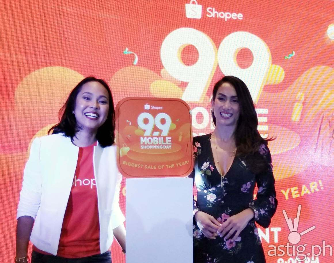 Macy Castillo, Head of Commercial Business at Shopee (left) with Ina Raymundo (right)