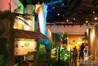 Amargasaurus and Herrerasaurus - Dinosaurs Around The World exhibit - Mind Museum BGC