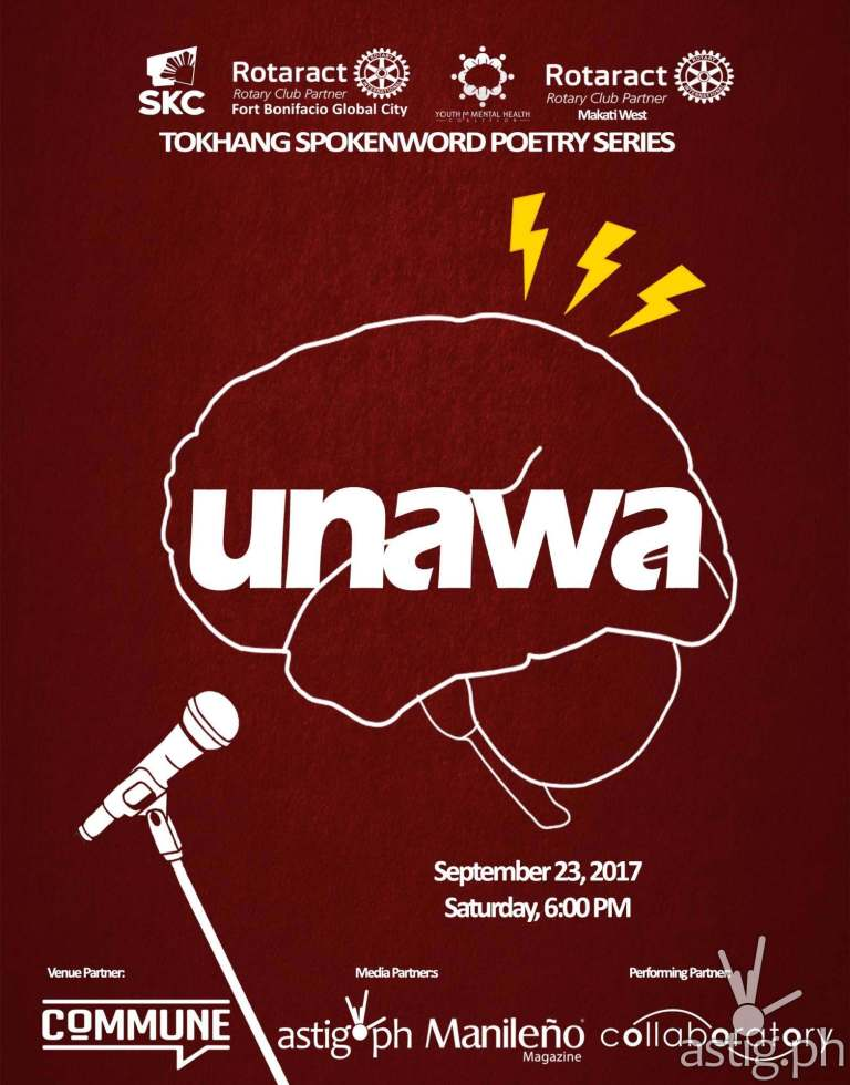 UNAWA: Spoken Word Poetry Night for Mental Health Awareness poster