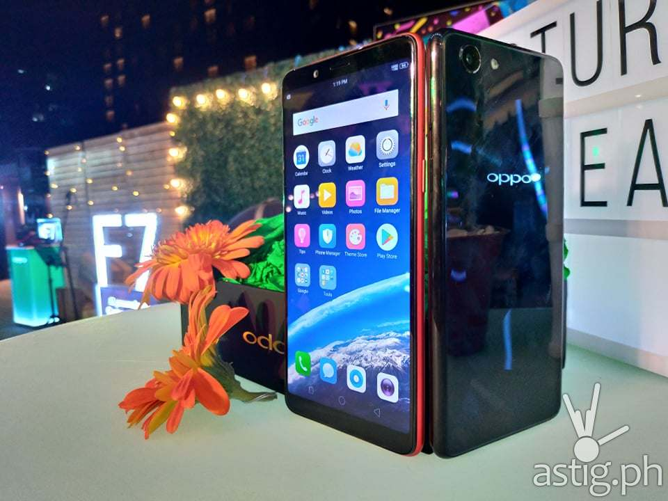OPPO F7 Youth Solar Red and Diamond Black