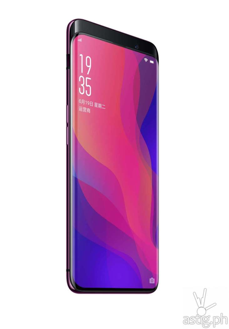 OPPO Find X front showing screen and pop-up camera