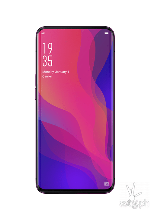 OPPO Find X uses an AMOLED display panel with very thin bezels for up to 93 percent display-to-surface ratio