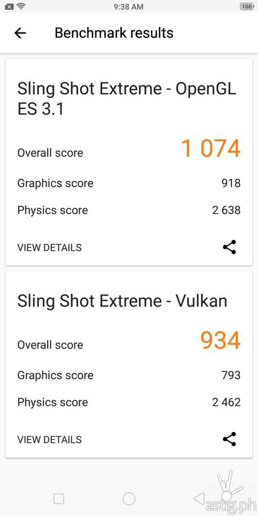 OPPO F7 Youth 3D benchmark results: 3DMark