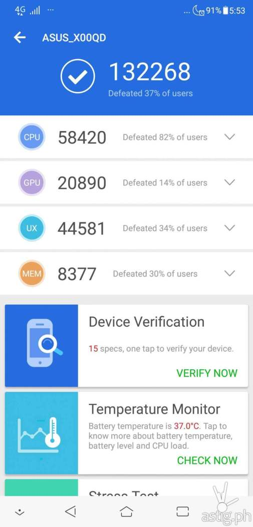 Zenfone 5 Antutu benchmark results
