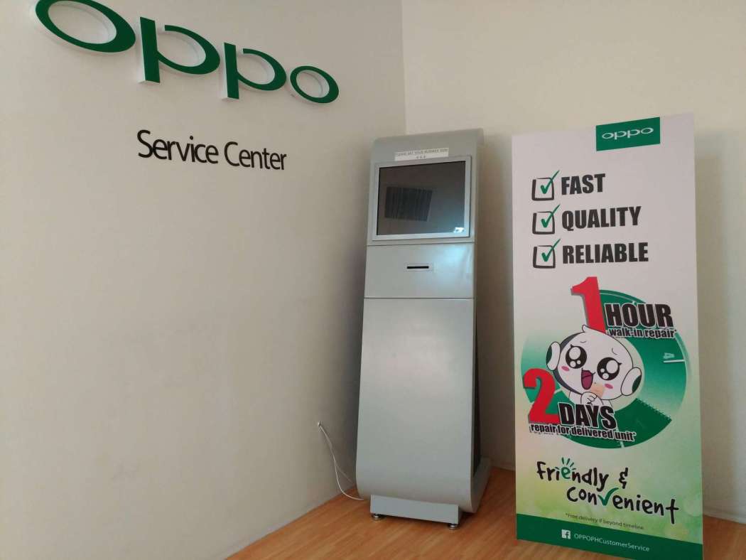 OPPO Service Center 1 hour guarantee for walk-in repairs