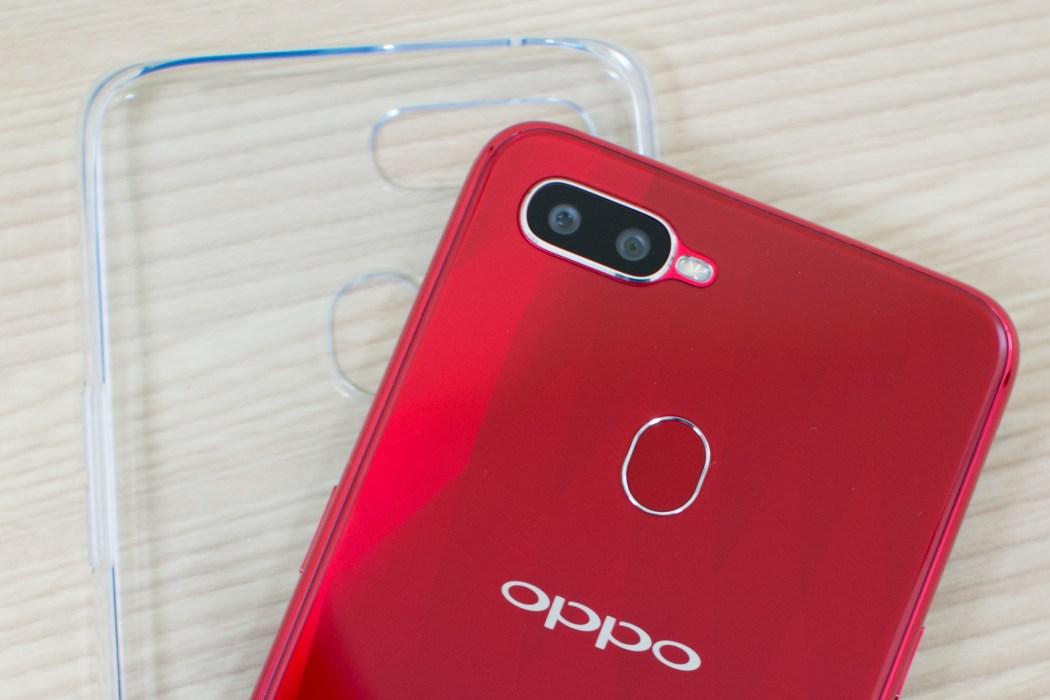OPPO F9 camera fingerprint scanner jelly case