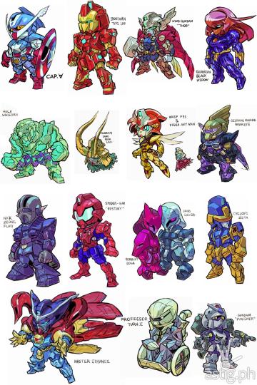 Gundam Marvel Superheroes