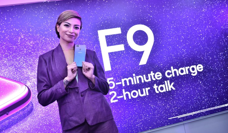 OPPO F9 Starry Purple launches amidst Typhoon Ompong