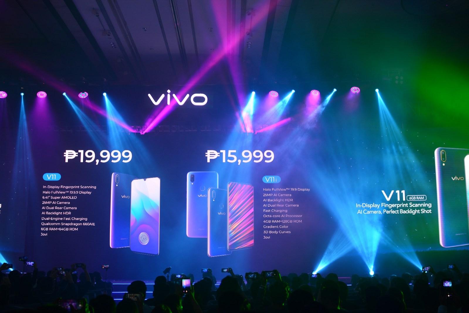 Vivo V11 Vivo V11i launch Philippines