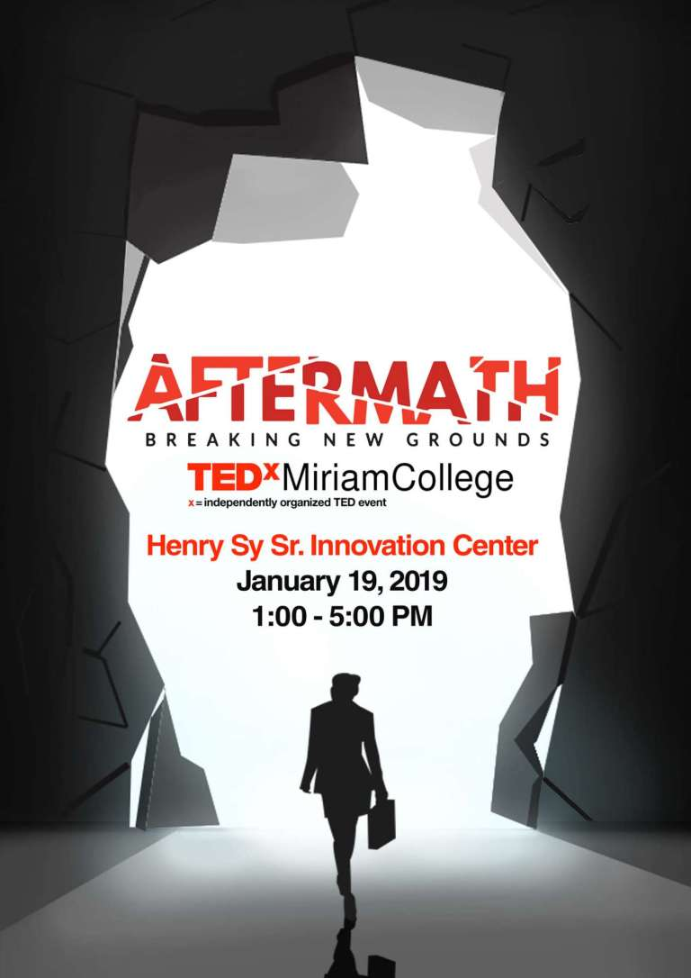 TED Talks Miriam College Aftermath Official Poster