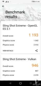 ZenFone Max Pro M2 gaming benchmark results - 3DMark