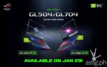 ASUS ROG GL504 GL704 GeForce RTX laptops (Philippines)