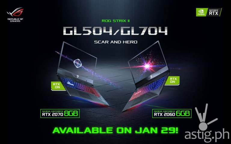 ASUS ROG GL504 GL704 GeForce RTX laptops (Philippines)