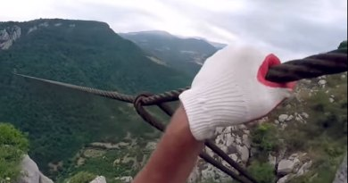 Intense Video of Two Russians on a Zipline