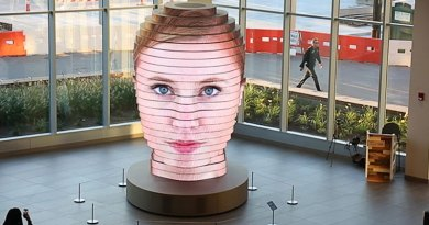 This LED Sculpture Projects Your Selfies