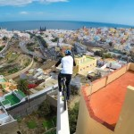 Watch This Guy Jump Between Rooftops in the Canary Islands on a Bike