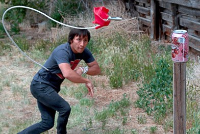 This Video Shows a Man Destroying Targets with a Rope Dart
