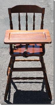 high chair before
