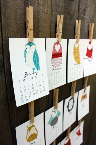 3. Little Owls calendar