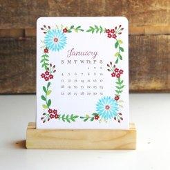 2. Floral desk calendar