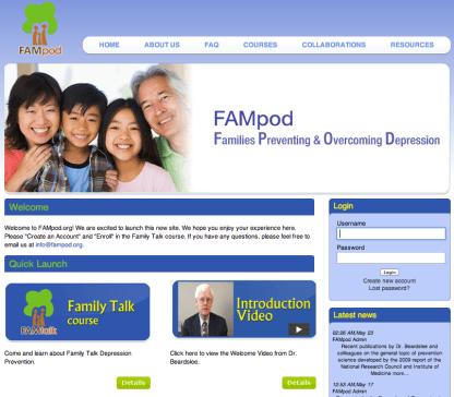 FAMpod.org website