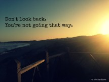 Dont Look Back Quotes Sayings Year Of Clean Water