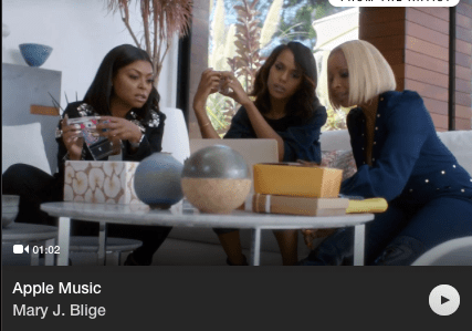 apple music commercial mark j blige kerry washington tariff p henson