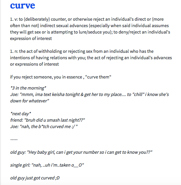 curve urban dictionary