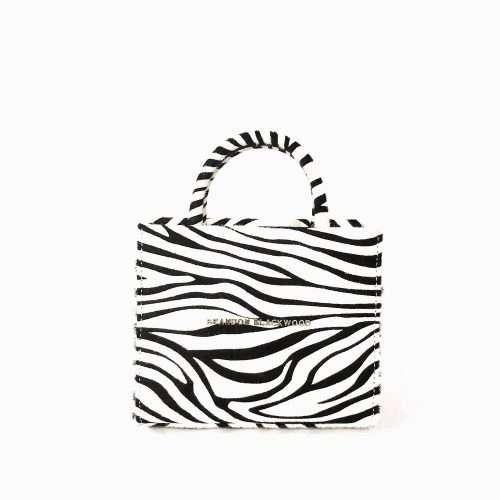 Brandon Blackwood Zebra Mini ESR Tote black owned gift