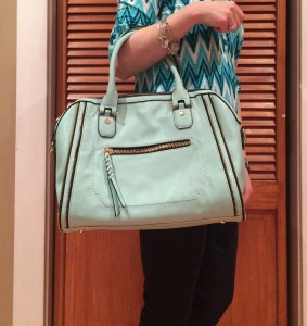 Stitch Fix, A Storybook Life, Urban Expressions Elisha Zipper Accent Structured Satchel