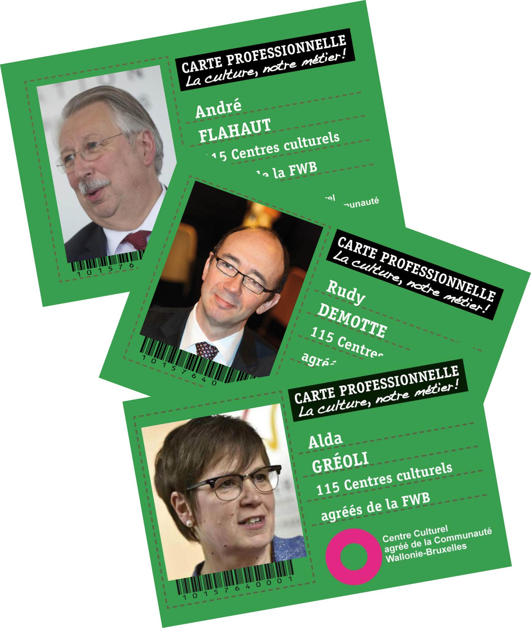 Cartes pro 3 ministres